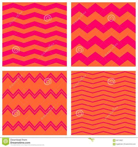 vector pattern set tile neon vector pattern set with pink and orange zig zag