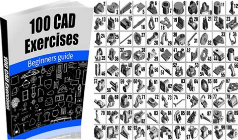 100 autocad exercises learn by practicing create cad drawings by practicing with these exercises books 100 cad exercises engineering feed