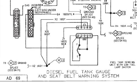 wiring question for fuel tank dodge diesel diesel
