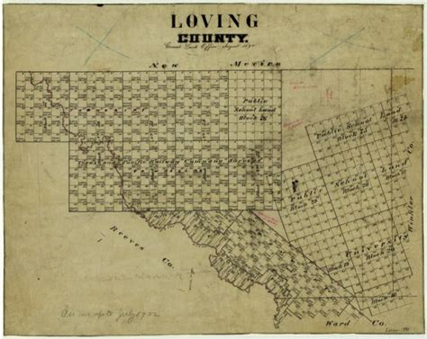 loving texas map loving county sequence 1 the portal to texas history
