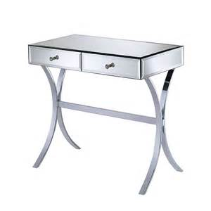 Mirrored Vanity Desk Table Impressions Vanity Co Crescent Leg Mirrored Vanity