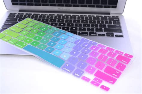 Keyboard Projector Silicone Mixed Color Macbook 13 15 arco iris de silicona cubierta teclado para apple