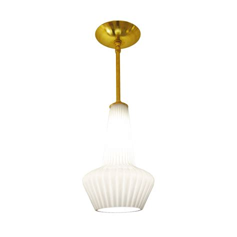 White Glass Pendant Ceiling Light by White Glass Ribbed Pendant Ceiling Fixture Chandeliers