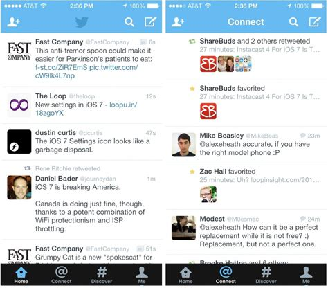 twitter ipad layout twitter for ios 7 released with new design icon on iphone