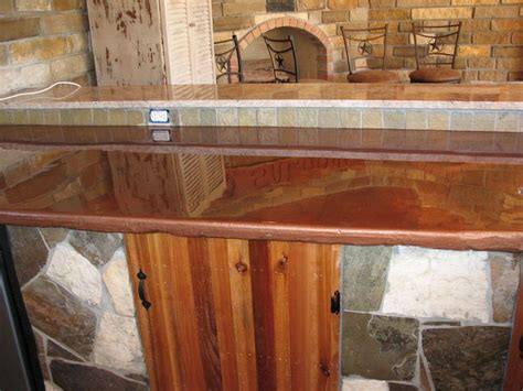 cabin style bar done with countertop epoxy epoxy bar
