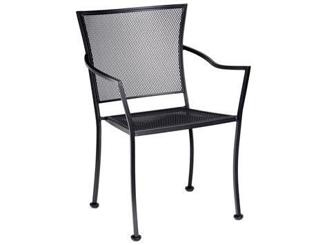metal bistro chairs with arms woodard amelie wrought iron stackable bistro arm chair