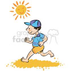 run in the sun royalty free boy running while barefoot on the in the sun 377014 vector clip image