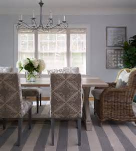 Gray Dining Room Rug Gray Stripes In A Seaside Cottage Nbaynadamas