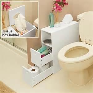 Slim Bathroom Storage White Slim Bathroom Storage Organizer With Drawers Tissue Dispenser