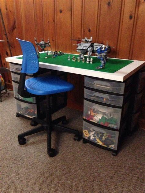 brilliant diy tables  storing  playing  lego