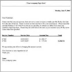 Business Letter Template Collections Collection Letter Template Initial Notice