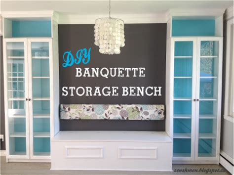 Diy Banquette Storage Bench by Zen Shmen Diy Banquette Storage Bench