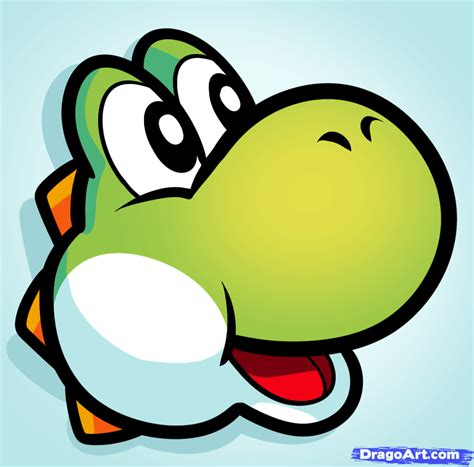 Drawing Yoshi by How To Draw Yoshi Easy Step By Step