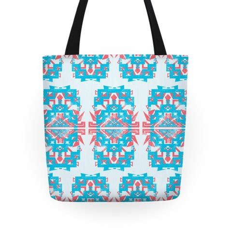 aztec pattern tote bag teal and red aztec pattern tote bag lookhuman