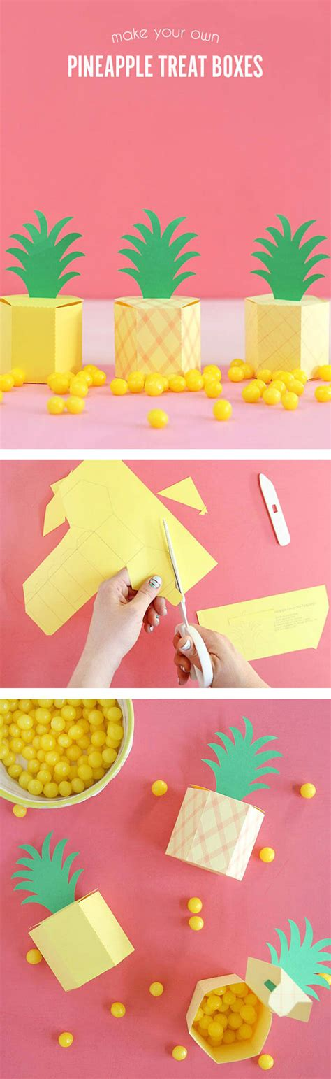 How To Make A Pineapple Out Of Paper - diy pineapple box lou