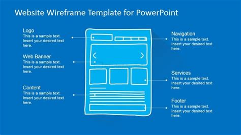 powerpoint wireframe template powerpoint website wireframe homepage