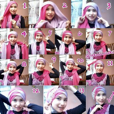 tutorial hijab segiempat untuk wisudah tutorial hijab modern terbaru simple untuk berbagai acara