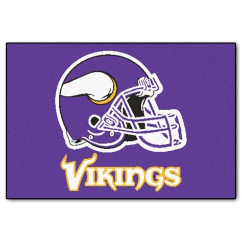 Minnesota Vikings Rugs by Fanmats Minnesota Vikings 19 In X 30 In Accent Rug 5764