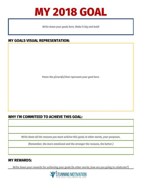 11 effective goal setting templates for you goals goal