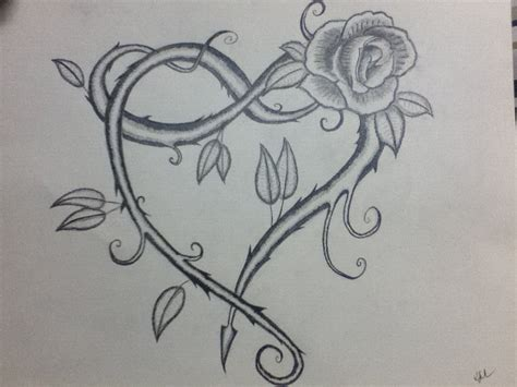 heart with vines tattoo design vine sketch by krowsnest on deviantart
