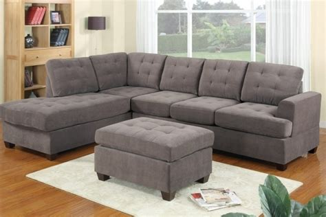 L Shaped Sectional Sofa With Chaise 2 Pc Smicrofiber Sectional Sofa With Chaise Charcoal L