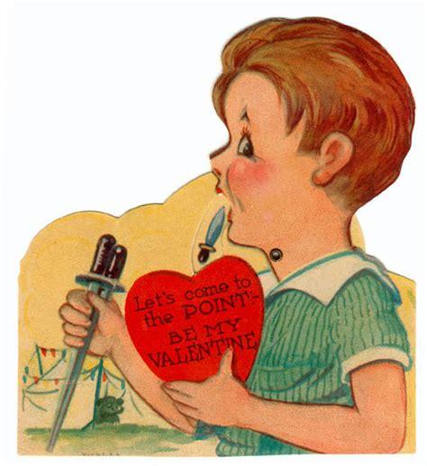 creepy valentines day cards 15 creepy vintage valentines oddee