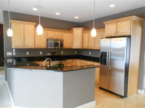 maple cabinets with granite countertops black granite countertops with maple cabinets google
