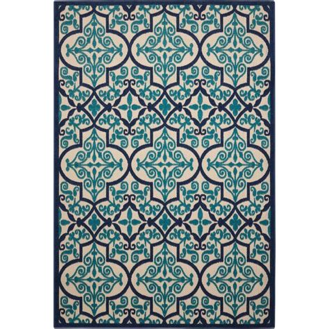 3 X 5 Indoor Outdoor Rugs Shop Nourison Aloha Navy Rectangular Indoor Outdoor Area Rug Common 3 X 5 Actual 3 5 Ft W X