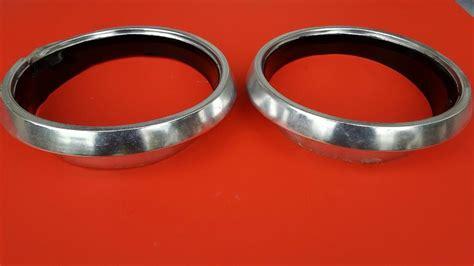 sold   barracuda valiant headlight bezel pair  fit  valiant