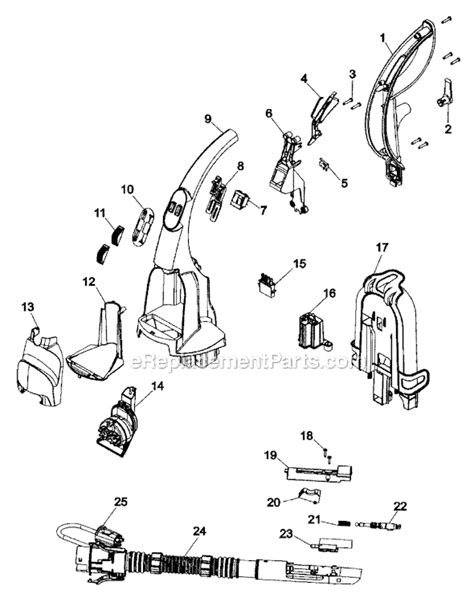hoover carpet cleaner parts diagram hoover f7411 900 parts list and diagram