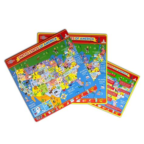 usa map magnetic puzzle educational toys planet