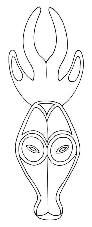 printable antelope mask template 345 fantastiche immagini su maschere su pinterest fai da
