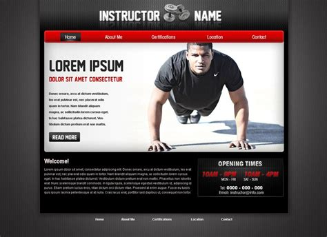 Fitness Web Template 28 Fitness Trainer Web Template Phpjabbers Fitness Website Design Templates