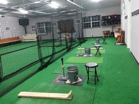 indoor cage at d2 baseball academy softball