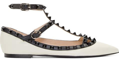 Black And White Flat Shoes valentino flat shoes black snocure