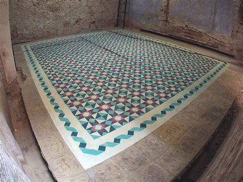 spray painting tiles artist spray paints floors of abandoned buildings with
