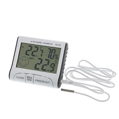 indoor room thermometer digital room thermometer hygrometer max min temperature humidity indoor outdoor ebay