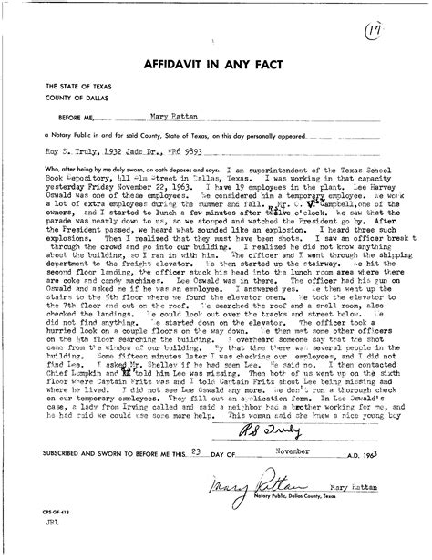 Jfkcountercoup The Doors Of Perception Why Oswald Is Not Guilty W Notes Arrest Affidavit Template