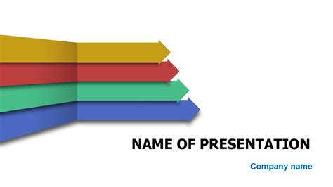 four arrows powerpoint template for impressive