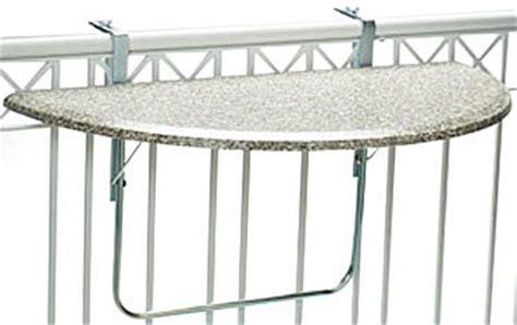 balkonbrüstung videx 16302 balkonklapptisch terrazo design 51x102cm halbrund