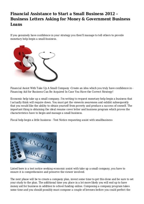 financial assistance start small business