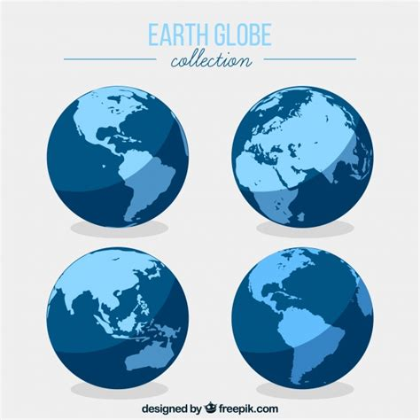 flat earth color flat earth globe collection vector free