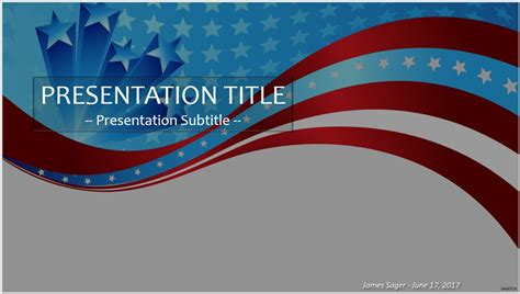 patriotic powerpoint templates free free patriotic wave powerpoint 45007 sagefox powerpoint