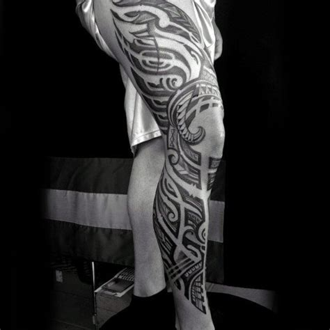 full leg tattoos for men power 70 best tribal tattoos for improb