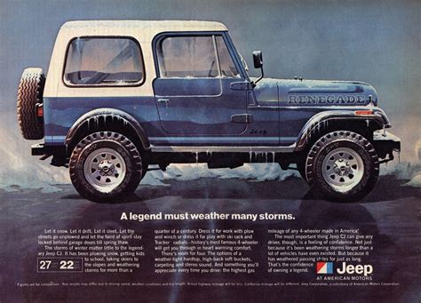Vintage 81 Jeep Ford Dodge Aztek Jeep Wrangler
