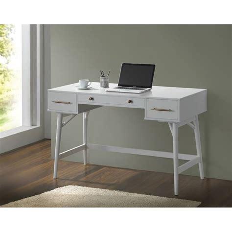 Ebay White Desk by Coaster 3 Drawer Mid Century Modern Writing Desk In White
