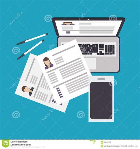 design concept document human resources design stock vector image 65887373