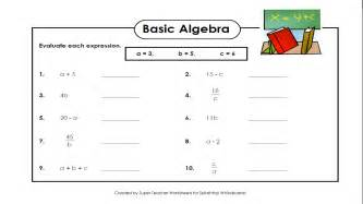 basic algebra worksheet abitlikethis