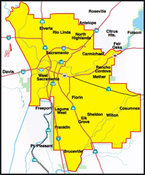map of sacramento maps of sacramento