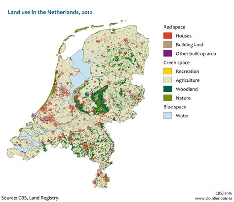 netherlands land map land use in the netherlands 2012 detailed map 2129x1846